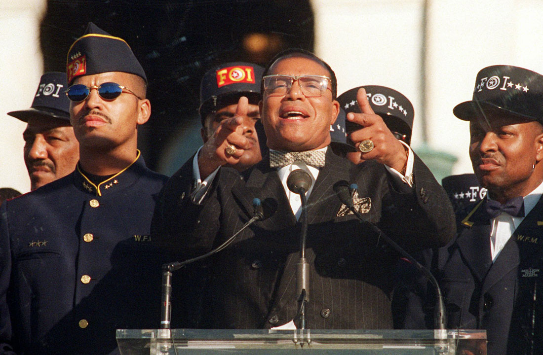 Image result for The million man march louis farrakhan