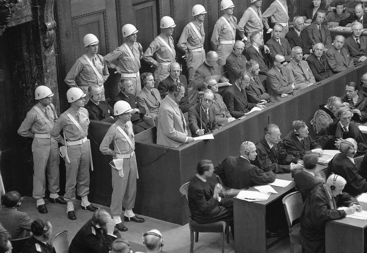 ap was there the nuremberg trials associated press interactive hermann goering center stands in the prisoners box his fellow nazi defendants on 31 1946 to make his final plea as the war crimes trial