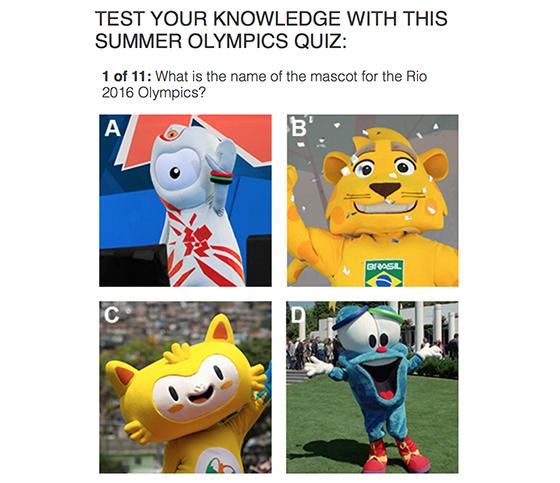 Summer Olympics quiz  Associated Press Interactive